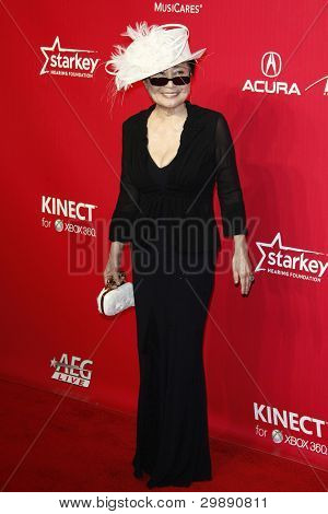 LOS ANGELES, CA - FEB 10: Yoko Ono at the 2012 MusiCares Person of the Year Tribute To Paul McCartney at the LA Convention Center on February 10, 2012 in Los Angeles, California