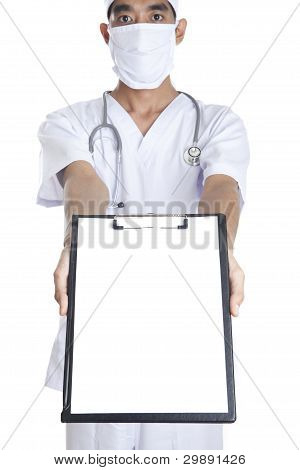Doctor With Blank Note Copy Space