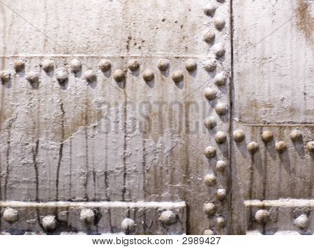 Old Metal Tank With Rivets