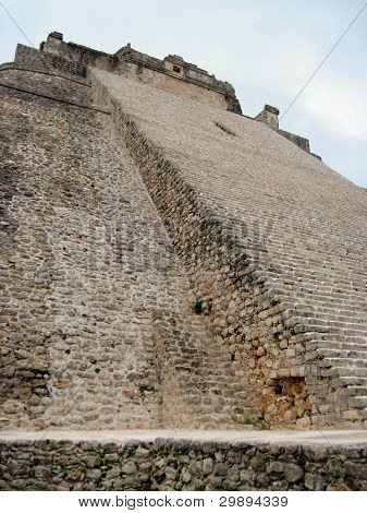 Pyramid at Uxmal Mexico
