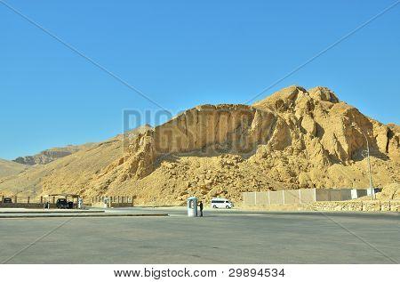 The peak of Al-Qurn, mountain opposite Luxor, Egypt