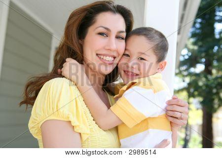 Mother And Son Hug