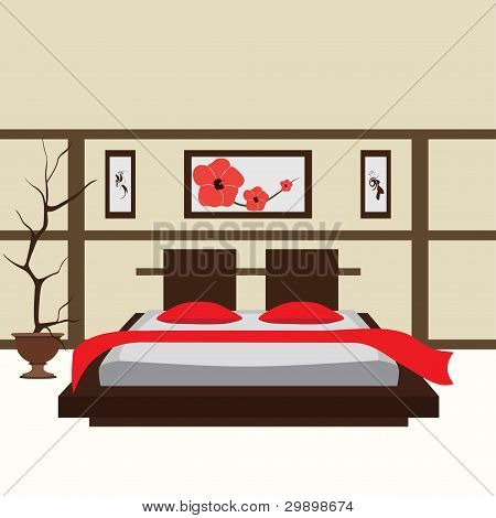 Habitación interior, ilustración vectorial
