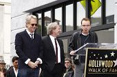 LOS ANGELES - FEB 6: Gerry Beckley; Dewey Bunnell; Billy Bob Thornton at a ceremony where rock band
