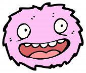 (raster version) furry little creature cartoon poster