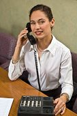 Pretty Business Woman On The Phone