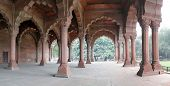 pic of khas  - Carved columns and arches of the Hall of Private Audience or Diwan I Khas at the Lal Qila or Red Fort in Delhi India - JPG
