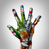 Stop Drugs Hand Or No Drug Addiction Icon As A Health Issue Representing The Dangers And Risk Of Smo poster