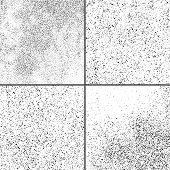 Dark Noise Granules. Set Vector Design Elements. poster