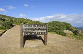 stock photo of promontory  - Cape Point is a promontory at the southeast corner of the Cape Peninsula - JPG