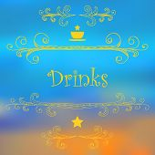 Drinks Menu Design. Cafe Design. Vector Illustration poster