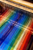 stock photo of loom  - loom weaving close up shot for background - JPG