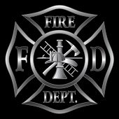 stock photo of maltese-cross  - Fire Department or Firefighter - JPG