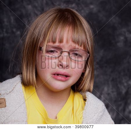 Studio Shot Of A Crying Child