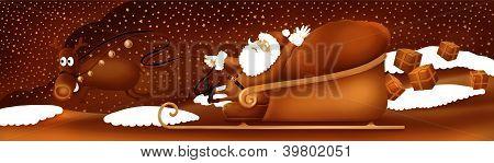 Santa clause and rudolf the reindeer