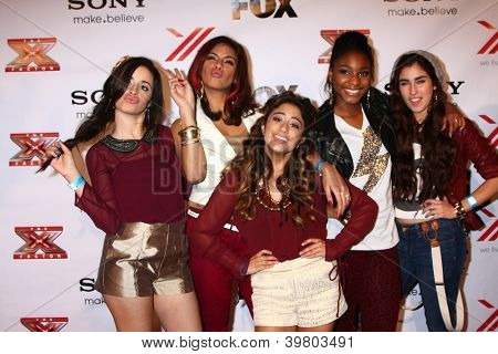 LOS ANGELES - DEC 6:  Fifth Harmony arrives to the X Factor 2012 Final Four Party at Rodeo Drive on December 6, 2012 in Beverly Hills, CA
