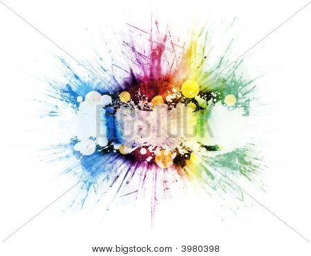 Vinyl Music Rainbow Explosion Design
