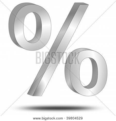 percentage symbol 3d