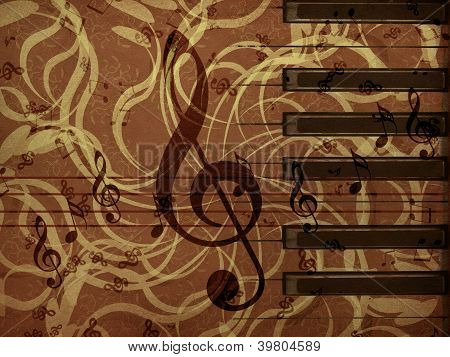 Music Floral Background