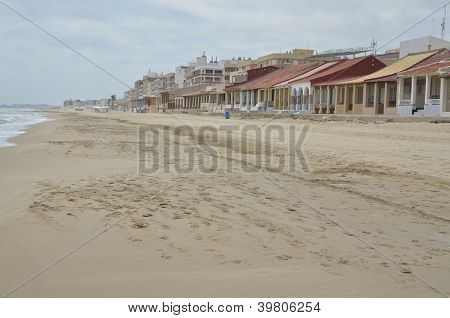 Empty Beach In Summer Season