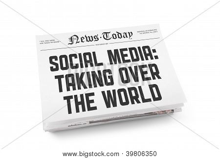 Social Media Newspaper Concept