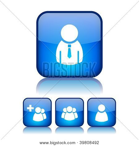 Internet users vector buttons
