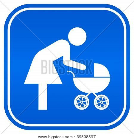 Mother and child vector sign