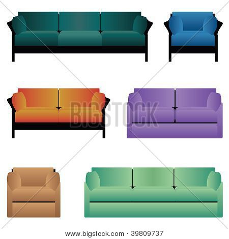 Set Of Sofas.