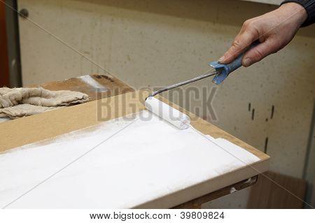 Paintroller On Panel