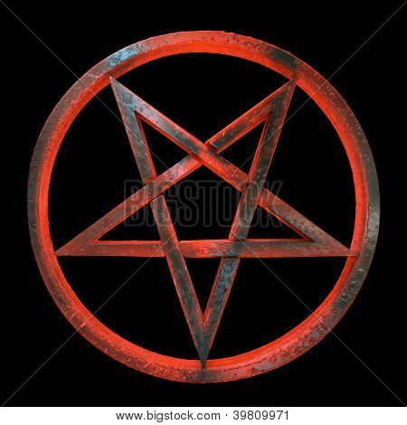 Aspecto siniestro inverted pentagram