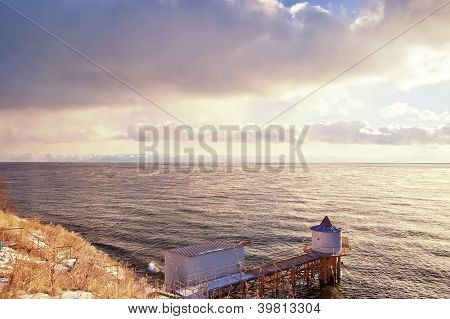 Water Tower On A Lake Baikal