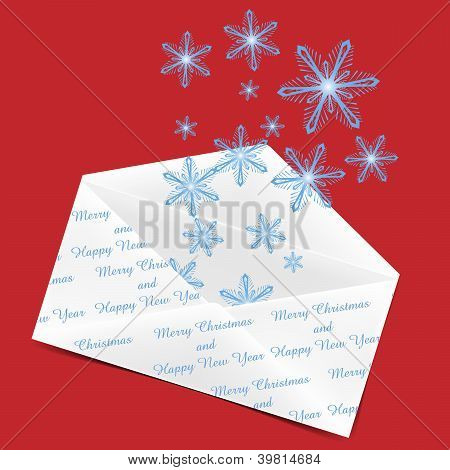 Envelope With Snowflakes