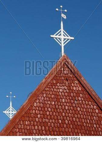 church roof with cross