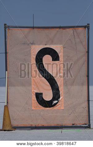 Start Flag At The Bonneville Salt Flats