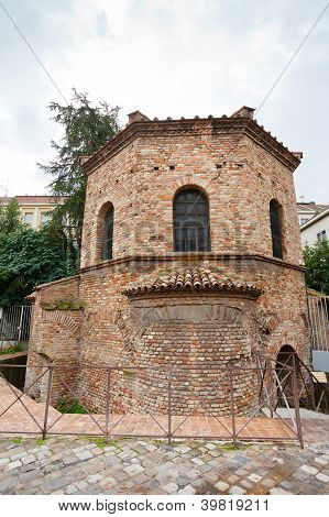 The Arian Baptistery In Ravenna, Italy