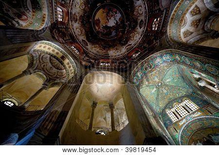 Ceiling Mosaic In Basilica San Vitale In Ravenna