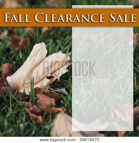 Fall Clearnace Sale
