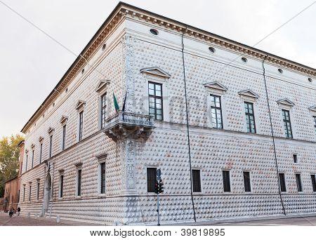 Palazzo Dei Diamanti In Ferrara, Italy