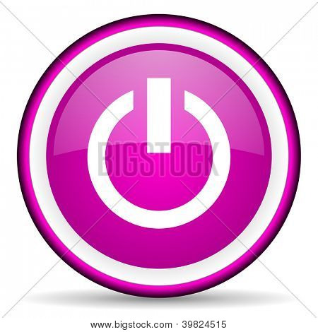 power violet glossy icon on white background