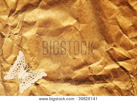 Grunge background with butterfly