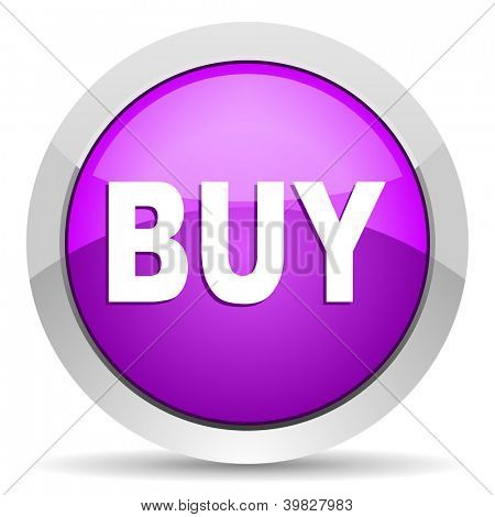 buy violet glossy icon on white background