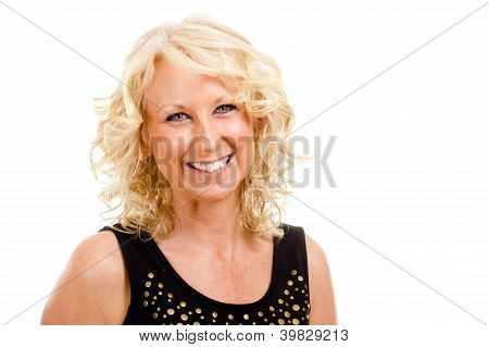 Portrait of pretty middle-aged woman in her 40s