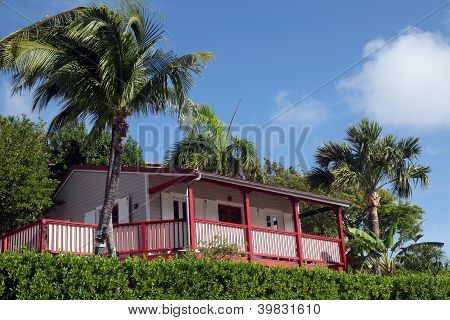 Private villa at the  Eden Rock hotel on November 10, 2012 at St Barth, French West Indies.