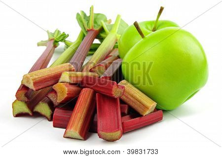 apples and rhubarb