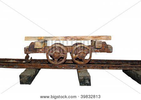 Old Wagon On A Salt Mine