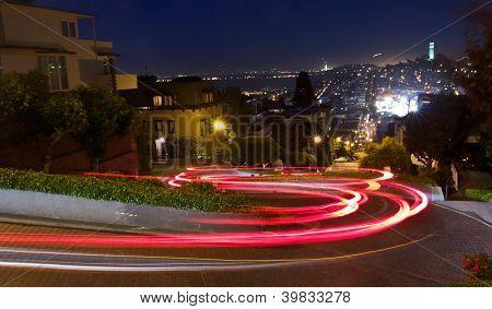Lombard Street à noite
