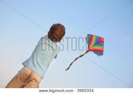 Child Starting Kite