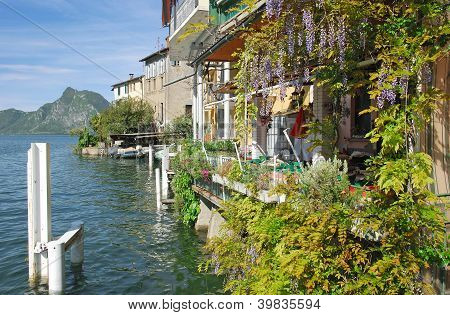 Gandria,Lake Lugano,Ticino,Switzerland