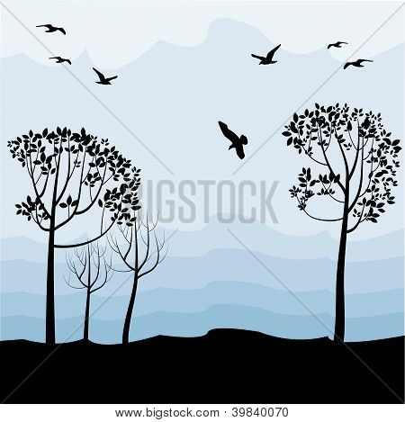 Landscape With Birds