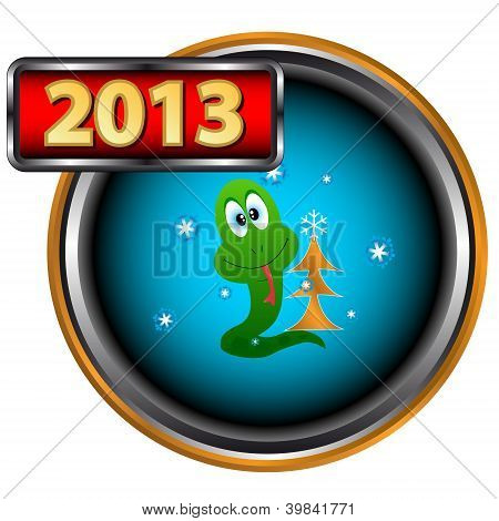 Abstract New Year Icon